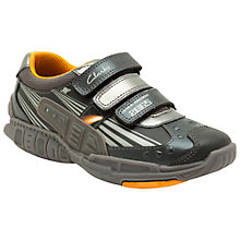 Buy Clarks Orbiter Fun Trainers, Black/Multi Online at johnlewis.com