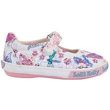 Buy Lelli Kelly Flutterby Dolly Shoes, White/Multi Online at johnlewis.com
