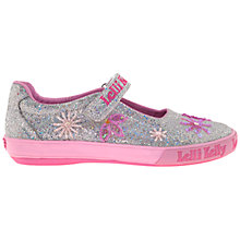 Buy Lelli Kelly Glitter Jewel Dolly Shoes, Silver Online at johnlewis.com