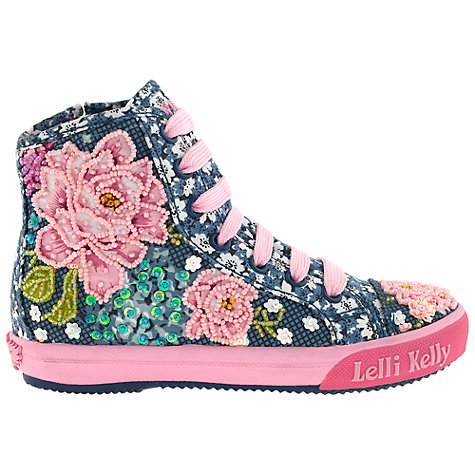 Buy Lelli Kelly Rose Hi Top Trainers, Blue Online at johnlewis.com