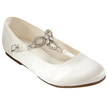 Buy John Lewis Girl Melissa Vintage T-Bar Shoes, Ivory Online at johnlewis.com