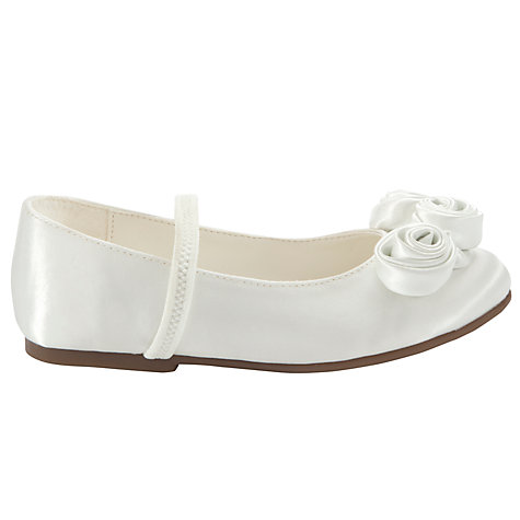 Buy John Lewis Triple Rose Bud Bridesmaid Shoes with Strap, Ivory Online at johnlewis.com