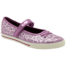 Buy Clarks Glam It Shoes, Purple Online at johnlewis.com