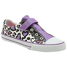 Buy Clarks Doodles Glitter It Canvas Trainers, Purple Online at johnlewis.com