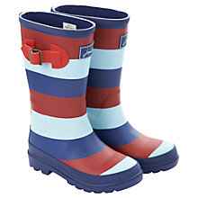 Buy Little Joule Help for Heroes Stripe Wellingtons, Red/Navy/White Online at johnlewis.com