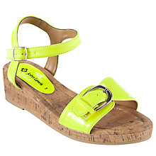 Buy John Lewis Girl Patent Cork Wedges Online at johnlewis.com