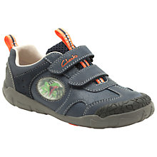 Buy Clarks Stompo Jaw Shoes, Navy Online at johnlewis.com