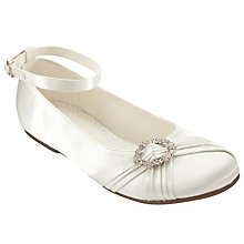 Buy John Lewis Girl Diamante Brooch Bridesmaids Shoes, Ivory Online at johnlewis.com