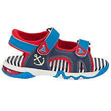 Buy John Lewis Boy Seb Light Anchor Trekker Sandals, Blue/Red Online at johnlewis.com