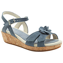 Buy Clarks Harpy Wings Shoes, Denim Online at johnlewis.com