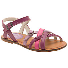 Buy Clarks Loni Luck Sandals, Purple Online at johnlewis.com