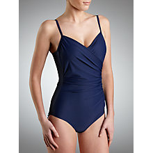 Buy John Lewis Control Cross Front Swimsuit, Navy Online at johnlewis.com