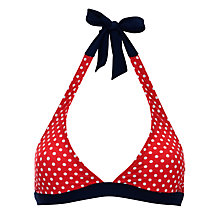 Buy John Lewis Epp Bikini Top, Red Online at johnlewis.com