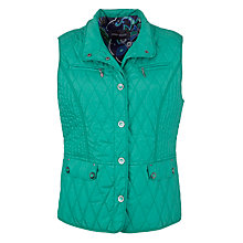 Buy Gerry Weber Quilted Gilet, Emerald Online at johnlewis.com