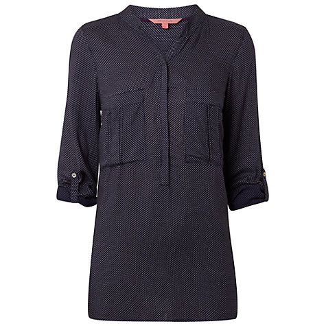 Buy White Stuff Indulge Shirt, Navy Online at johnlewis.com