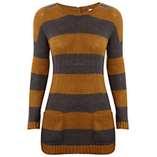 Buy White Stuff Lillah Striped Jumper, Caramel Online at johnlewis.com