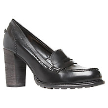 Buy KG by Kurt Geiger Mel Leather Scalloped Edge Block Heel Loafers Online at johnlewis.com