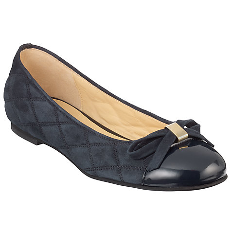Buy Gabor Jill Bow Front Patent Toecap Quilted Suede Pumps Online at johnlewis.com