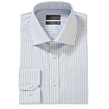 Buy John Lewis Twin Stripe Long Sleeve Shirt, Blue Online at johnlewis.com