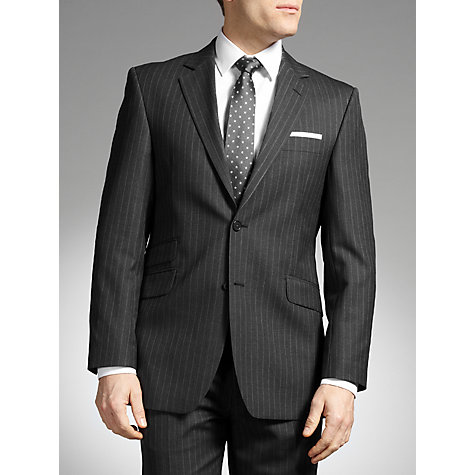 Buy John Lewis Fine Stripe Suit Jacket, Grey Online at johnlewis.com