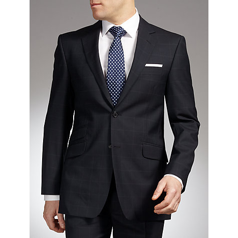 Buy John Lewis English Windowpane Suit Jacket, Navy Online at johnlewis.com