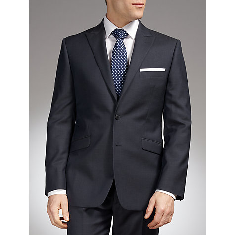 Buy John Lewis Grid Check Tailored Suit Jacket, Blue Online at johnlewis.com