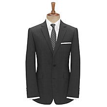 Buy John Lewis Textured Stripe Tailored Suit Jacket, Charcoal Online at johnlewis.com