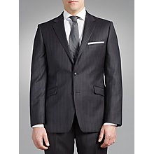 Buy John Lewis Travel Stripe Tailored Suit, Charcoal Online at johnlewis.com