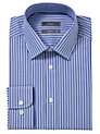 Buy John Lewis Tailored Multi Stripe Shirt, Blue, 17.5 Online at johnlewis.com