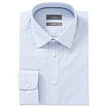Buy John Lewis XS Sleeves Tailored Varied Stripe Shirt, Blue Online at johnlewis.com