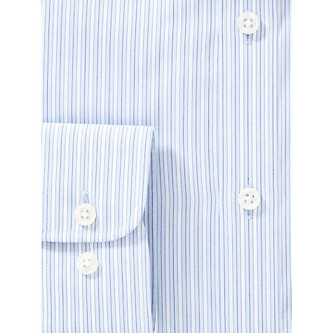 Buy John Lewis Tailored Varied Stripe Shirt, Blue Online at johnlewis.com