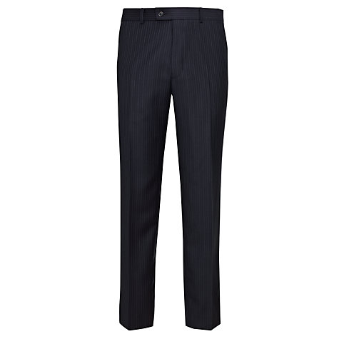 Buy John Lewis Lilac Stripe Suit Trousers, Navy Online at johnlewis.com