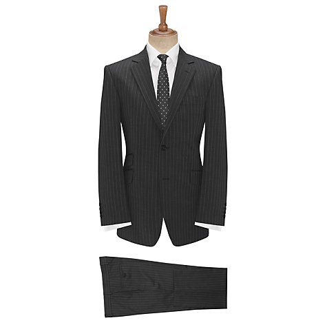 Buy John Lewis Fine Stripe Suit Trousers, Grey Online at johnlewis.com