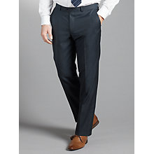 Buy John Lewis Tailored Herringbone Suit Trousers, Navy Online at johnlewis.com