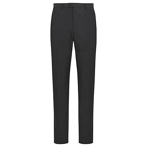 Buy John Lewis Textured Stripe Tailored Suit Trousers, Charcoal Online at johnlewis.com