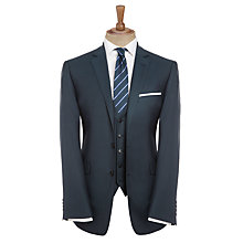 Buy John Lewis Tailored Herringbone Suit Jacket, Navy Online at johnlewis.com