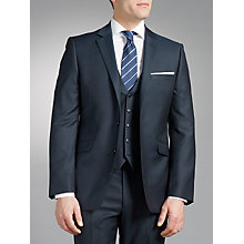 Buy John Lewis Tailored Herringbone Suit, Navy Online at johnlewis.com