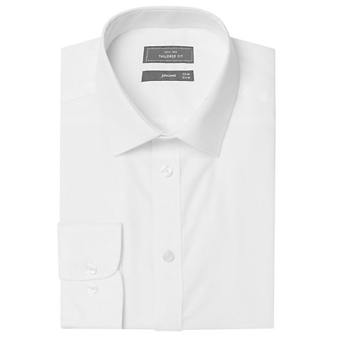 Buy John Lewis XL Sleeves Twill Tailored Shirt, White Online at johnlewis.com