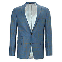 Buy Daks Wool Check Blazer, Navy Online at johnlewis.com