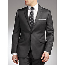 Buy John Lewis Classic Fit Heringbone Suit, Charcoal Online at johnlewis.com