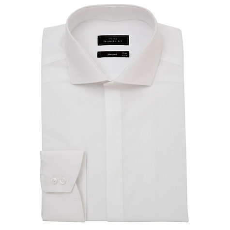 Buy John Lewis Hazelburn Tailored Fit Dress Shirt, White Online at johnlewis.com