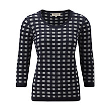 Buy Viyella Check Block Jumper, Multi Online at johnlewis.com