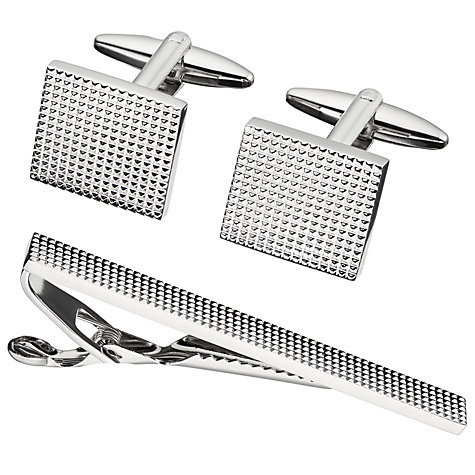 Buy John Lewis Cufflink And Tie Slide Gift Set Online at johnlewis.com