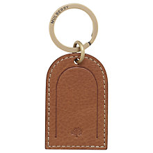 Buy Mulberry Leather Tag Keyring, Tan Online at johnlewis.com