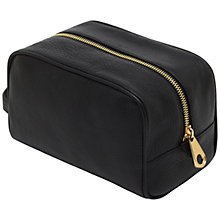 Buy Mulberry Leather Washbag, Black Online at johnlewis.com
