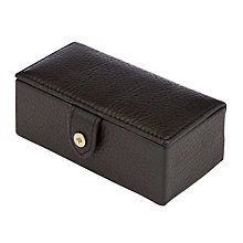 Buy Mulberry Natural Leather Cufflinks Box, Black Online at johnlewis.com