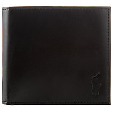Buy Polo by Ralph Lauren Burn Leather Bifold Wallet, Black Online at johnlewis.com