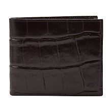 Buy Mulberry 8-Card Print Leather Wallet, Black Online at johnlewis.com