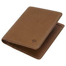 Buy Mulberry Mini Tri-Fold Leather Wallet, Oak Online at johnlewis.com