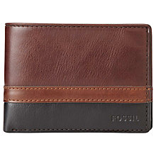 Buy Fossil Philips International Traveller Leather Wallet, Brown Online at johnlewis.com
